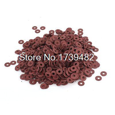 1000pcs 3x8x0.8mm Binder Parts Insulating Fiber Washers for Tattoo Machine