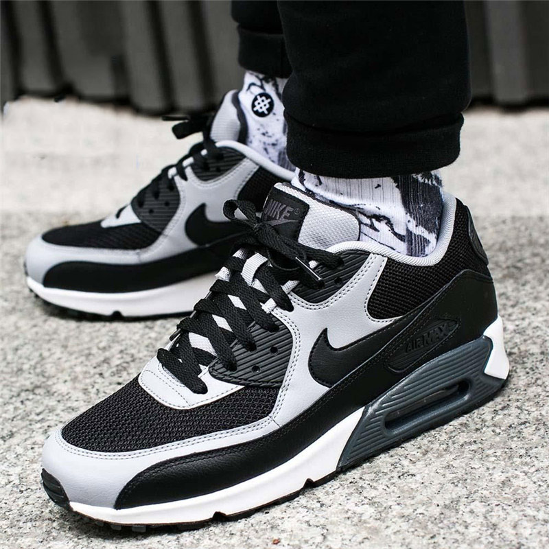 quality design 7230f 3216d Original Authentic 2018 NIKE AIR MAX 90 ESSENTIAL Low Top Rubber Men's  Running Shoes Sneakers Breathable Outdoor Sneakers 537384
