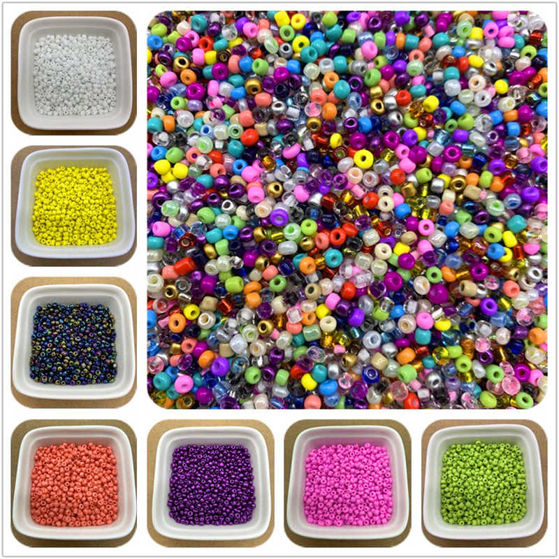 200Pcs 3mm Charm Czech Glass Seed Beads DIY Bracelet Necklace Beads For Jewelry Making DIY Earring Necklace