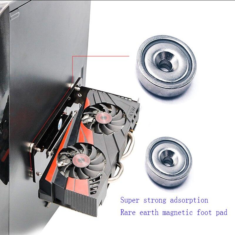 וידאו כרטיס גרפי עבור 3.0 PCI E 16X וידאו כרטיס רחבת כבלים אנכיים רגלי / בסיס עם סוגר כרית כף רגל מגנטית חזק עבור כרטיס גרפי (5)