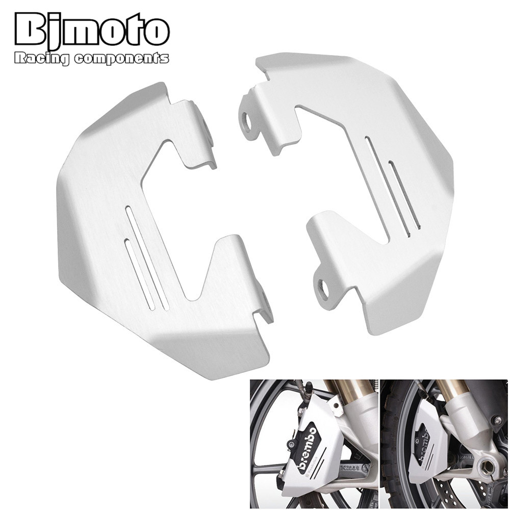 Bjmoto Motorcycle R NINE T Silver Front Brake Caliper Cover Guard Protector For BMW R1200GS LC R1200GS ADV motorcross kemimoto for bmw motorcycle front brake caliper cover protection cover guard for bmw r nine t 2014 2017 r1200gs lc 2013 2015