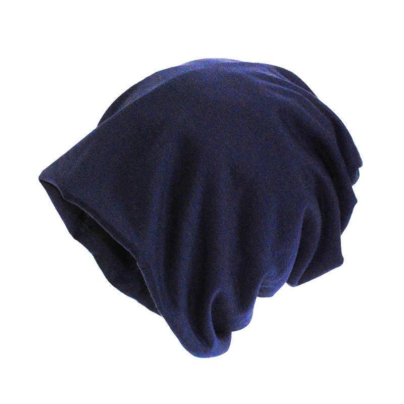 カジュアルビーニー帽子女性のための Skullies ビーニー薄型キャップ 2018 ファッションメンズソリッドカラーのヒップホップ帽子だらしないユニセックスターバンキャップ