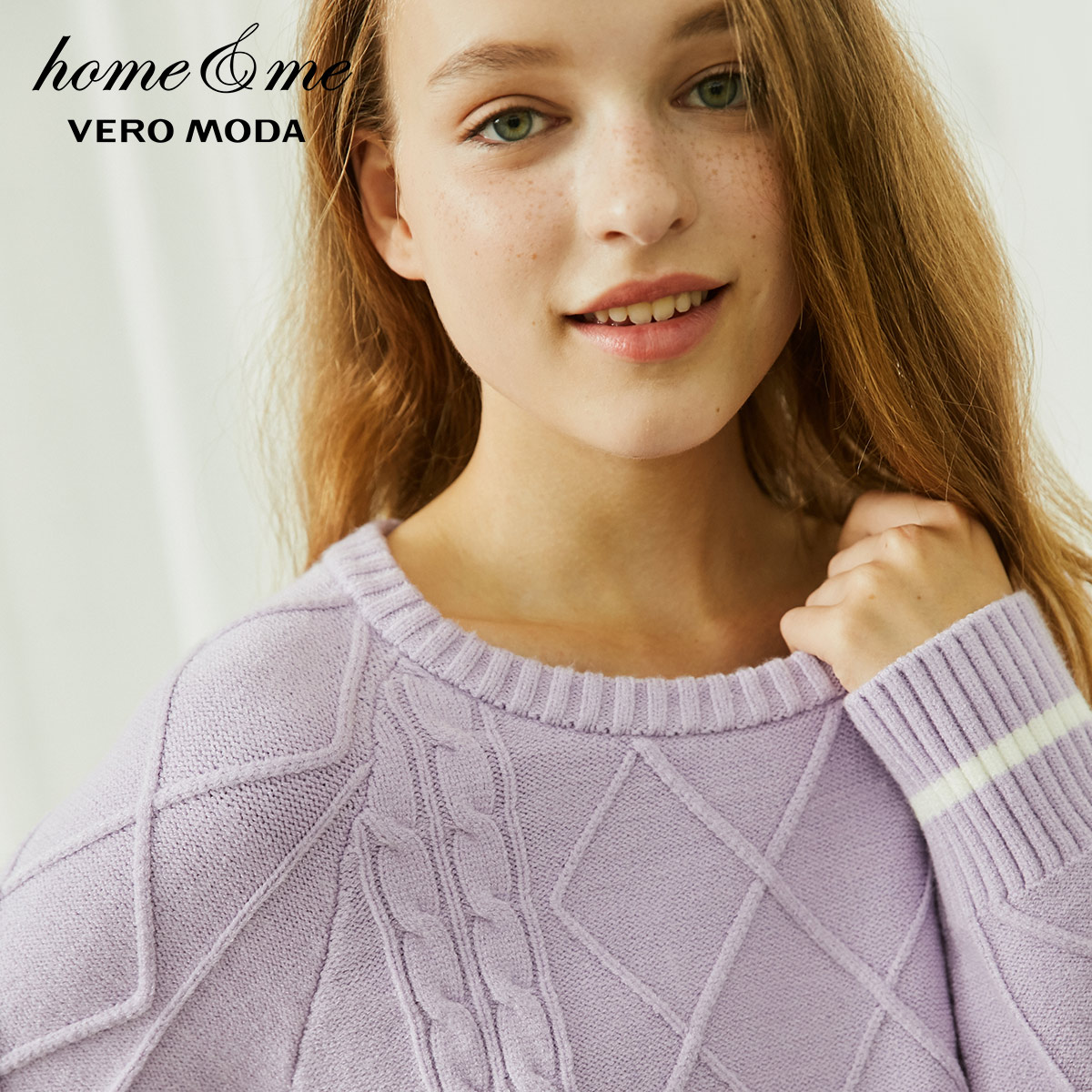 Image 4 - Vero Moda nouveau pull en tricot torsadé jambe pantalon costume homewear  3184K6501-in Ensembles de pyjama from Sous-vêtements et pyjamas on AliExpress