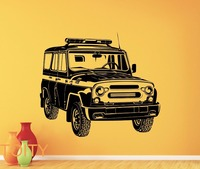 PC ruso UAZ de Vinilo de Coches Etiqueta de La Pared Decal Mural de Garaje Vehículo Automóvil Shop Art Decor Home Living Room Cartel Retro