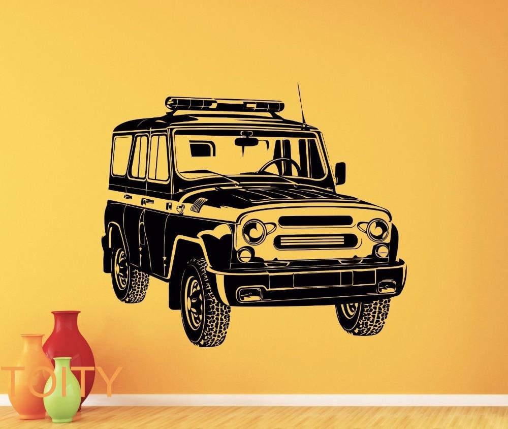 Russian PC Car Wall Sticker UAZ Vinyl Decal Garage Mural Vehicle ...