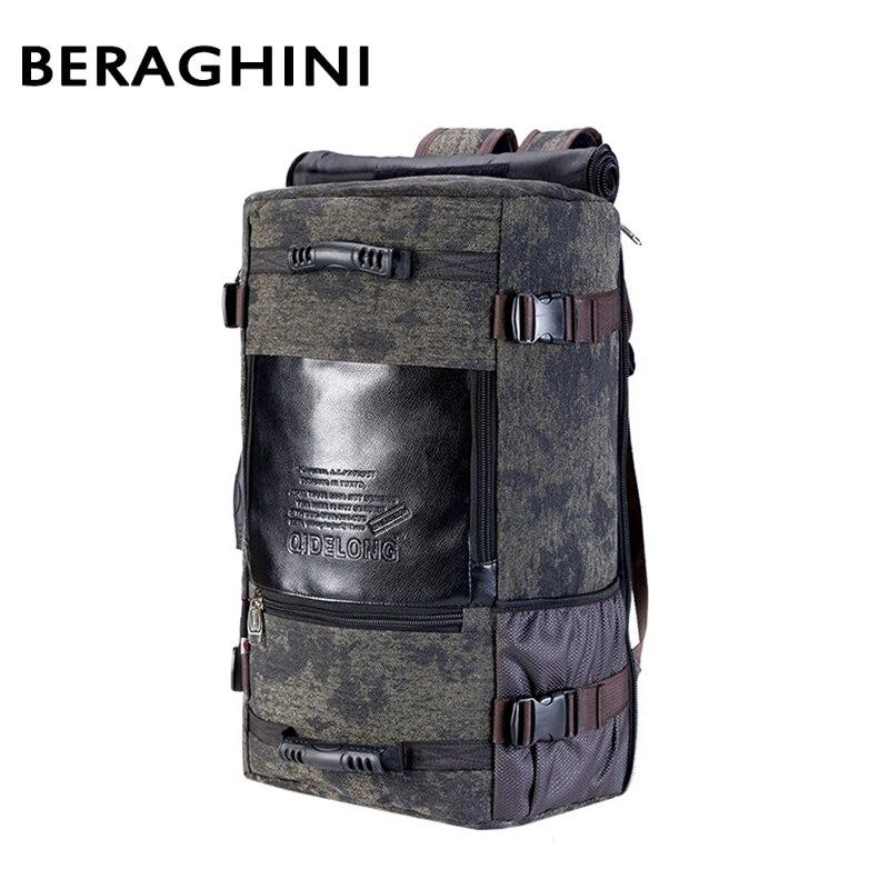2018 hommes voyage sac à dos toile grande école mâle bagages sac à bandoulière ordinateur portable sac à dos hommes fonctionnel polyvalent sacs