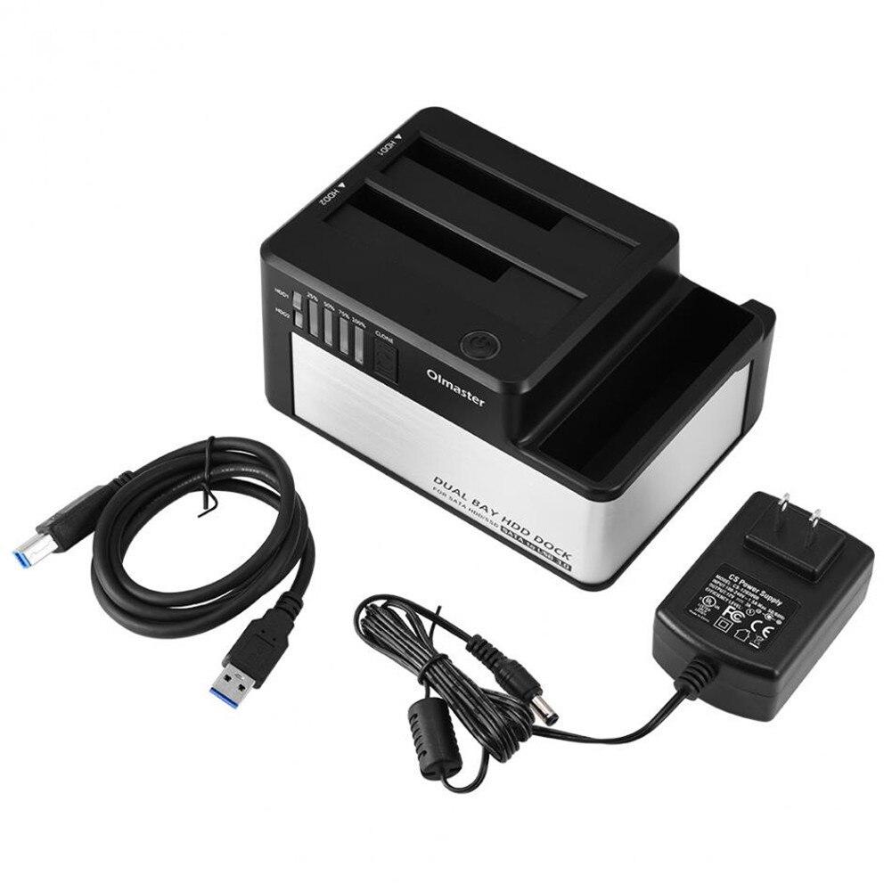 EB-1047U3 2.5/3.5 pouces boîtier HDD externe Base de disque dur Port série USB 3.0 disque dur externe Station d'accueil 2 baies