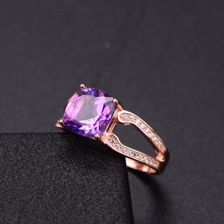 Amethyst ring Natural real amethyst 925 sterling silver 48mm gem Purple crystal rings For women or men Amethyst ring Natural real amethyst 925 sterling silver 48mm gem Purple crystal rings For women or men