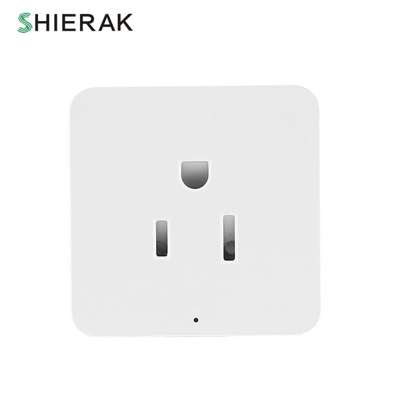 SHIERAK Smart Home US Standard Power Supply Plug Wifi Socket Switch White For Smart Home Outlet US Plug 110V 10A