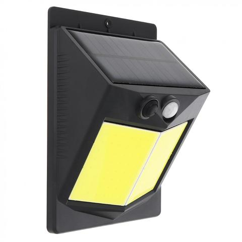 luz solar do sensor de movimento para patio exterior iluminando