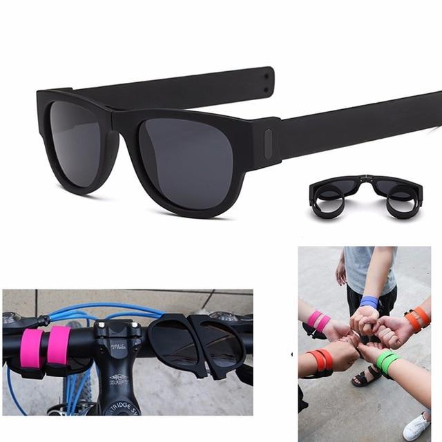 160713cfc85 Dimshow Polarized SlapSee Sunnies Sunglasses Polarized Womens Mens Fashion  Folding Foldable Sun Glasses Cool Fold Shades Oculos