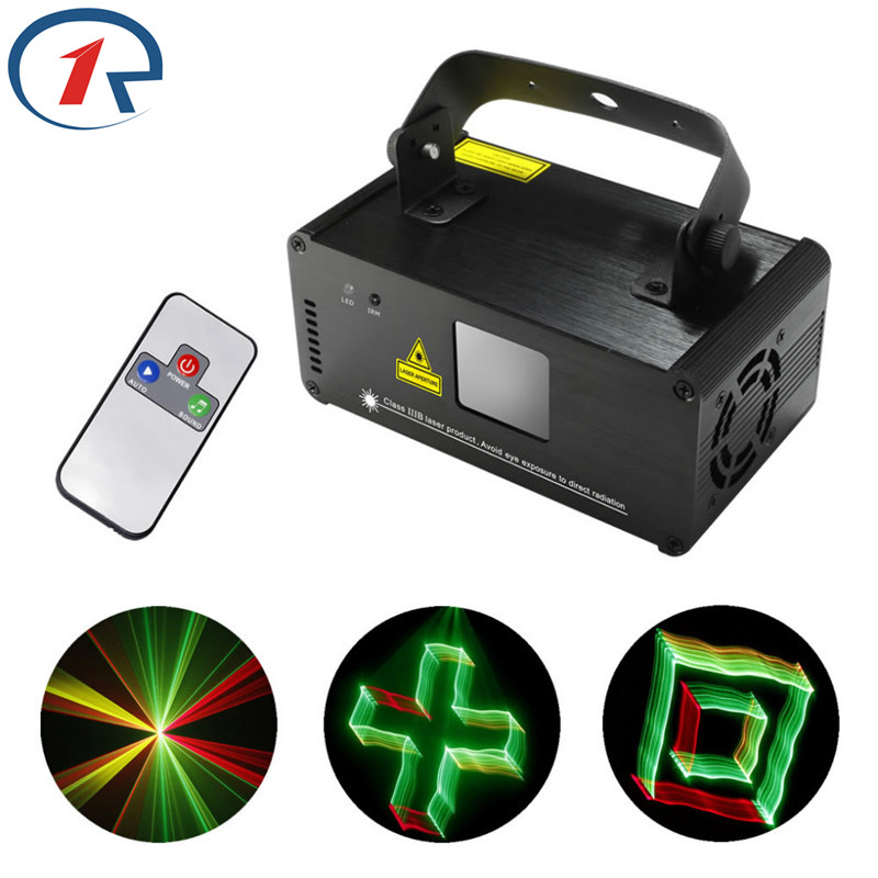 ZjRight IR Remote 3D effect Red Green Mix Yellow Laser Light DMX Full Color Projection Stage decoration dj ktv show party lights rg mini 3 lens 24 patterns led laser projector stage lighting effect 3w blue for dj disco party club laser