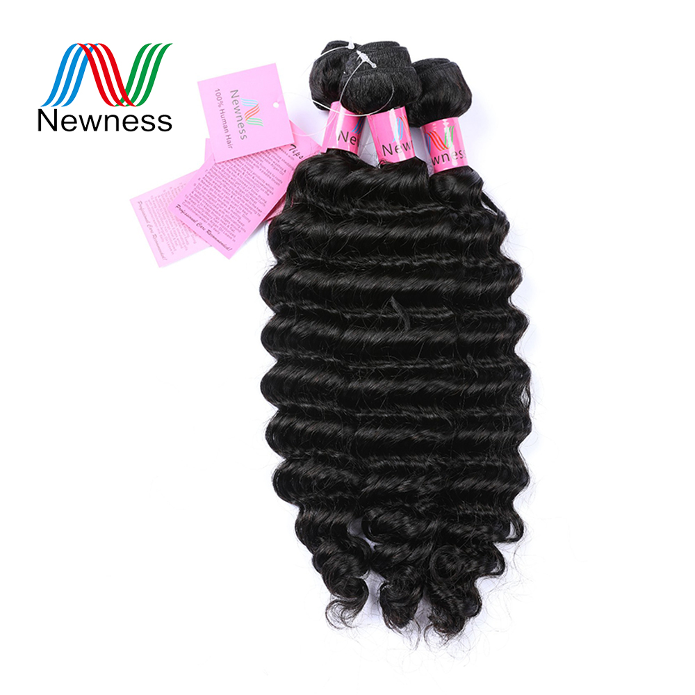 Self-Conscious Newness Hair Indian Deep Hair Bundles Remy Hair 1/3/4 Pieces Deal Natural Color Double Weft 8-30 Can Be Dyed No Tangle Hair Weaves