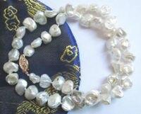 Miss charm Jew.627 necklace white keishi biwa pearl 9mm beads
