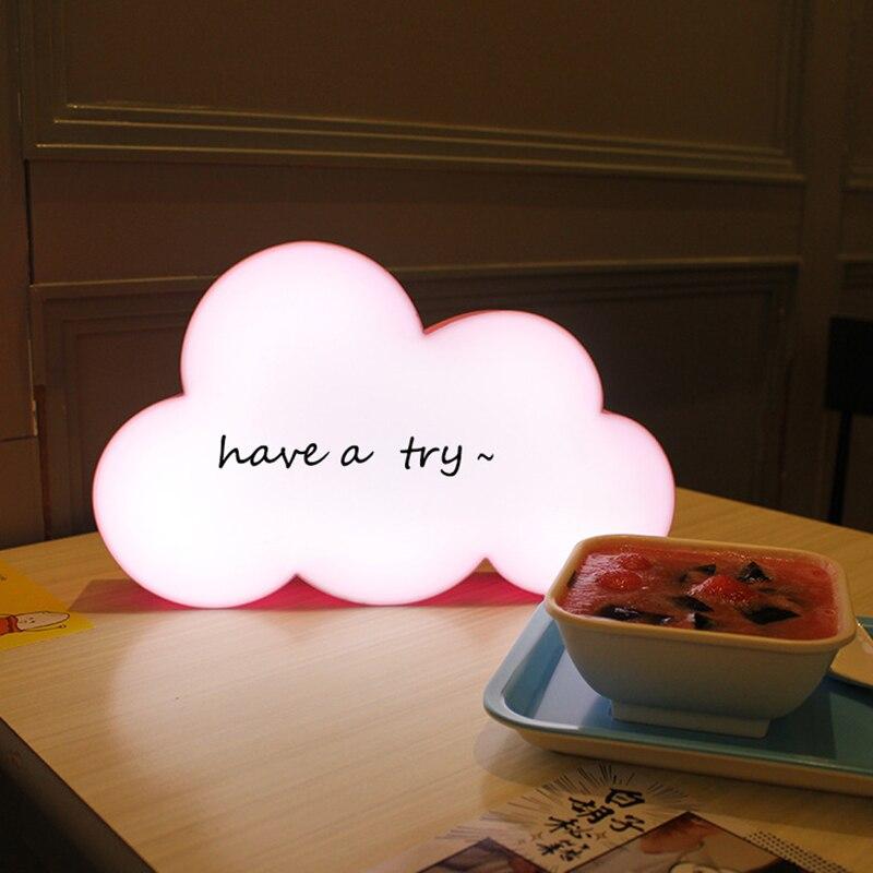 Belle Couverture de forme LED Message Lightbox LED Boîte à Lumière Nuit écriture À La Main Table Lampe de Bureau Batterie USB Décor IY303206