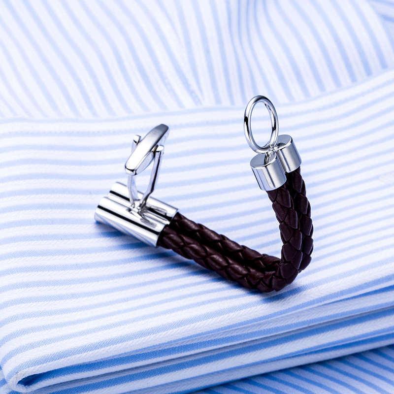 HTB1gXvxQXXXXXa4XFXXq6xXFXXXN - Men's Closed Loop Leather Cufflinks