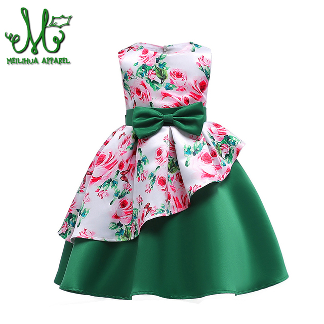 4fcf11f1618f89 2-10 Y Baby girl clothes kids reception formal dresses girls birthday ball gown  Kids