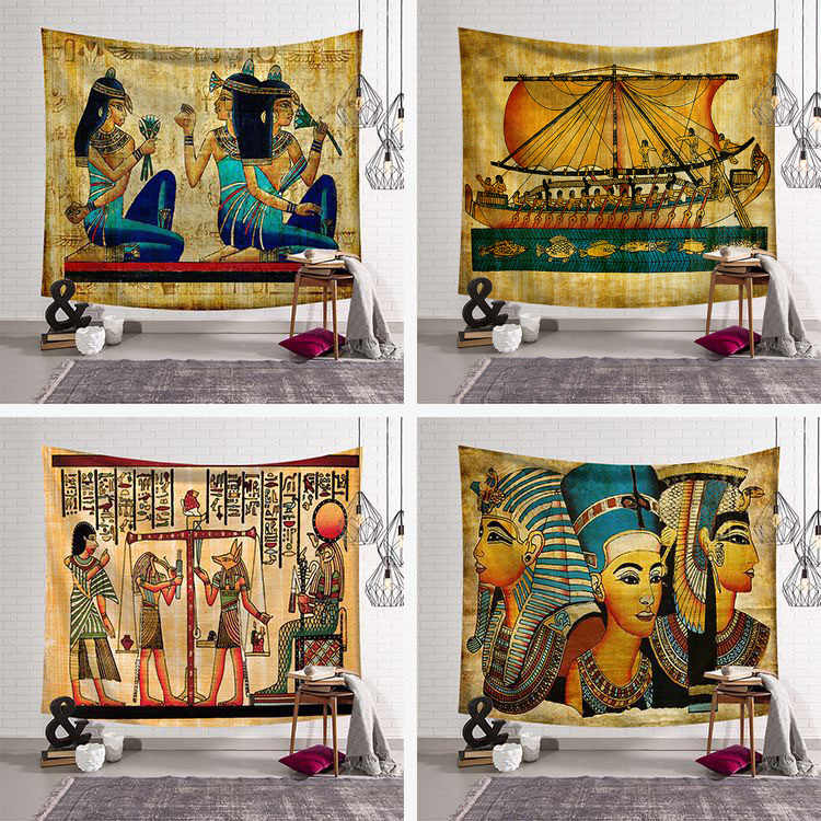 Abstract Art Tapestry Wall Hanging Egypt Style Tapestry Mandala World architecture Wall Hanging Towel Yoga Mat Table Cloth Decor