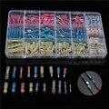 200 STKS Diverse Geïsoleerde Waterdichte Krimpkous Butt Spade Bullet Connector Crimp Terminal Soldeer Mouw Connector Kit met Doos