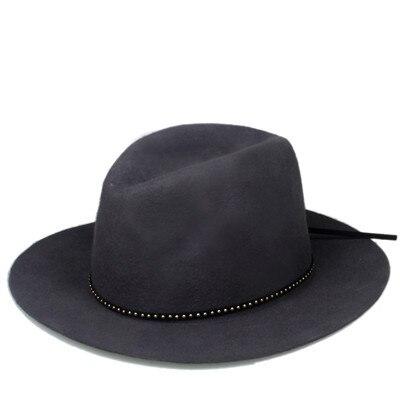 6 шт./лот новые модные женские туфли Для мужчин шерсть autunm зима фетровая шляпа Фетр Панама женская флоппи Дерби шляпа Кепки Головные уборы - Цвет: Gray