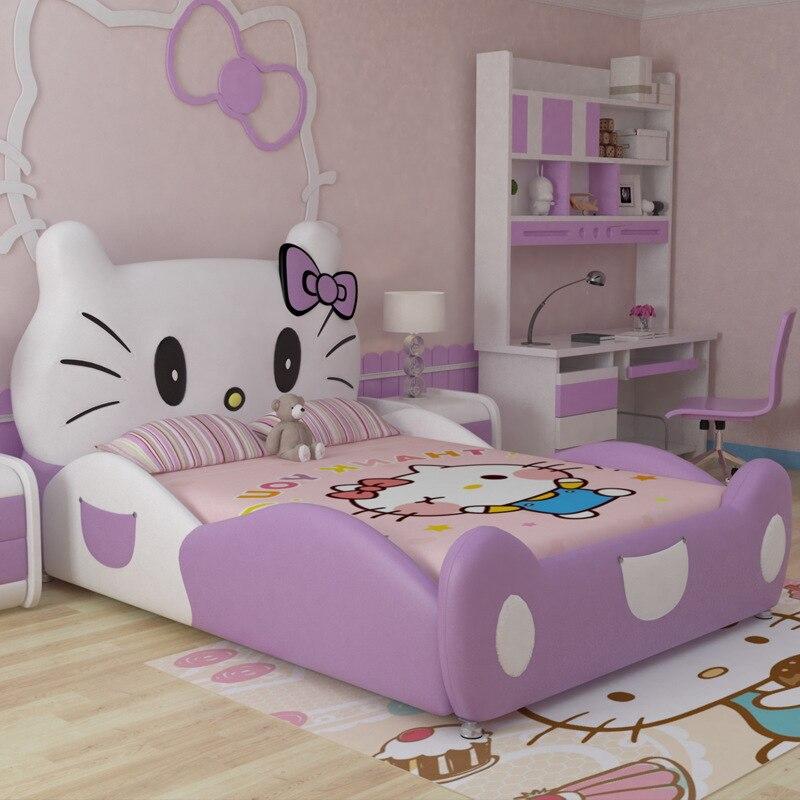 Verwonderend 2017 new design modren design hello kitty pink leather children BY-46