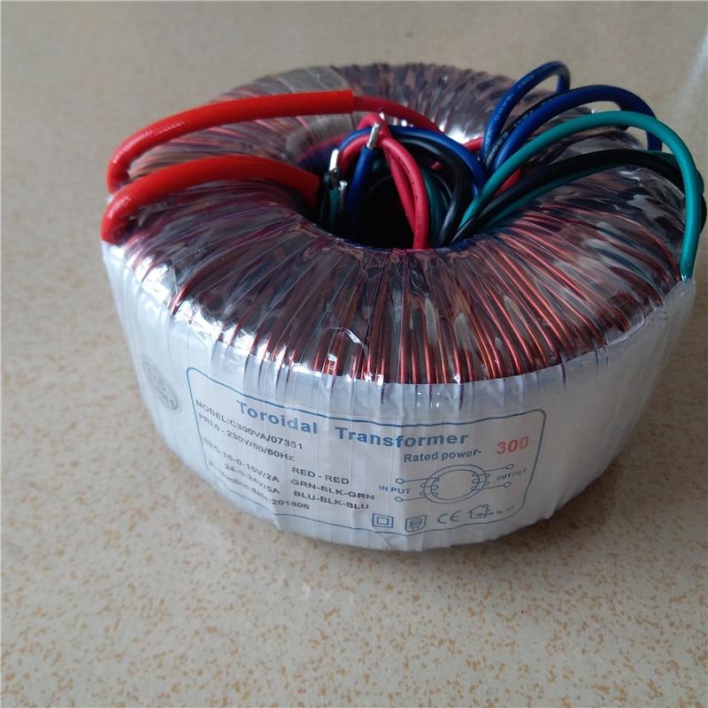 24V 0 24V 5A 15V 0 15V 2A Toroidal transformer copper custom transformer 230V input 300VA