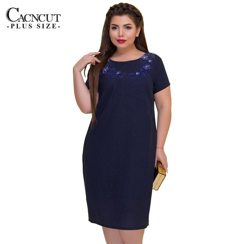 €13.64 45% СКИДКА|Женское платье с цветочным принтом, повседневное прямое платье большого размера 5xl, 6xl, женская одежда большого размера, 2019|Платья| |  - AliExpress