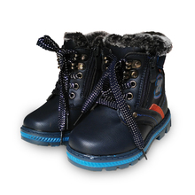 Super quality 1pair Winter warm BRAND Snow Boots Children Boot child cotton-padded shoes male Kids PU Leather Baby Boy Shoes