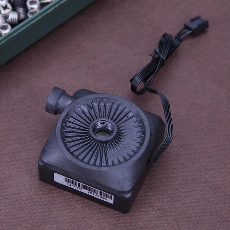12 V súper silencioso componente de ordenador enfriador de agua Mini bomba de circulación de agua para PC sistema de refrigeración por agua de alta calidad