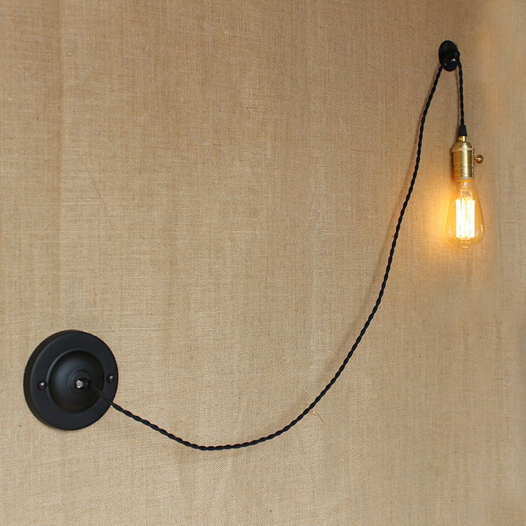 Retro Loft Style DIY Edison Wall Sconce American Iron Antique Wall Lamp Vintage Wall Light Fixtures For Indoor LightingRetro Loft Style DIY Edison Wall Sconce American Iron Antique Wall Lamp Vintage Wall Light Fixtures For Indoor Lighting