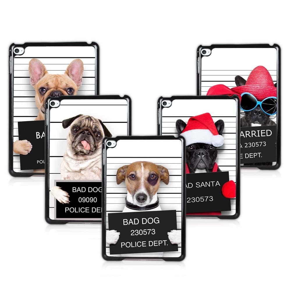 Bad Dog Criminal Dog Slim Back Cover For ipad mini 4 the 4th Generation Tablet Case Smart Dog