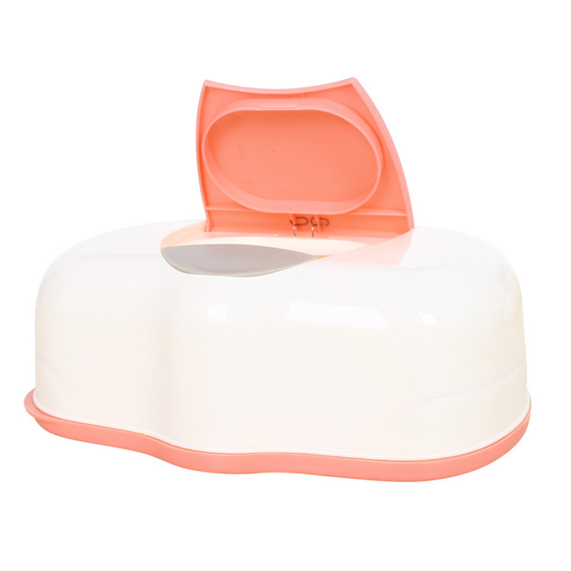 HOT GCZW-Tissue Case Baby Wipes Box Plastic Wet Tissue Automatic Case Care Accessories Press Pop-up Design Color random