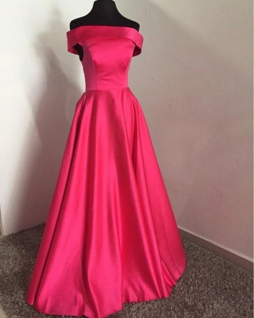 Vestidos de noche rosa fucsia