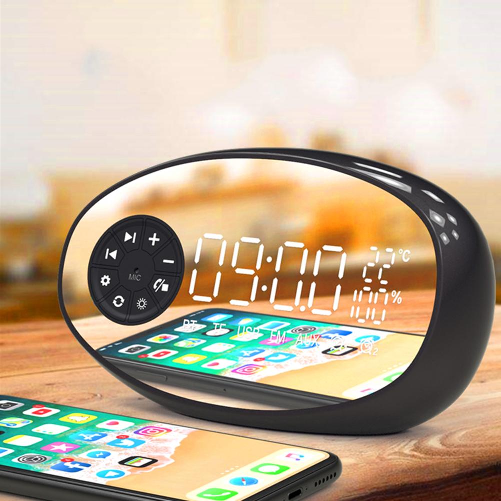 Image 4 - New Multifunctional Bluetooth Speaker Temperature Measurement Radio Electronic Alarm Clock Wireless Subwoofer Small Audio Device-in Portable Speakers from Consumer Electronics