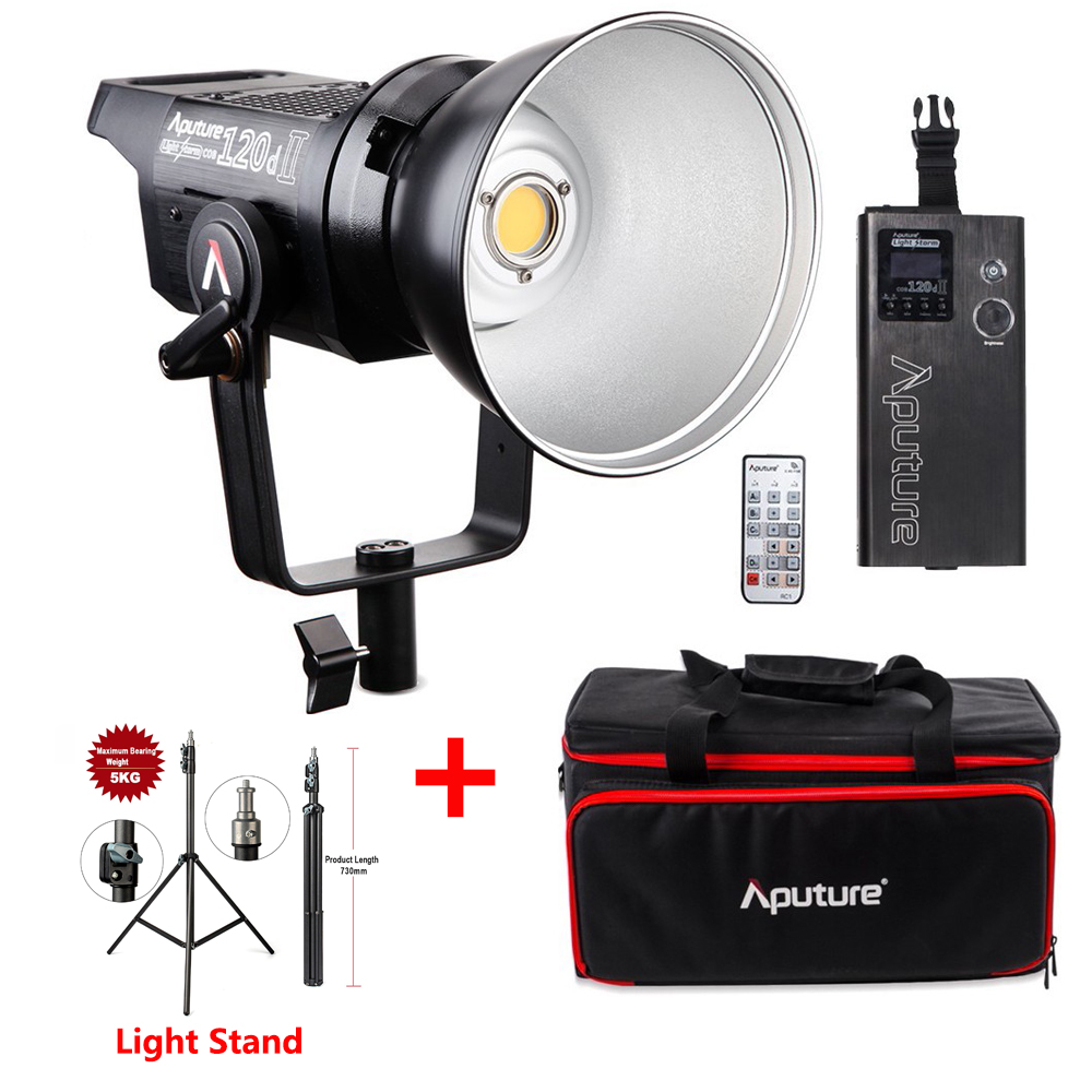 Aputure LS 120D II 120d Mark II Light Storm COB LED Studio Light Kit LED Bowens Mount Continuous Video Light With Light Stand