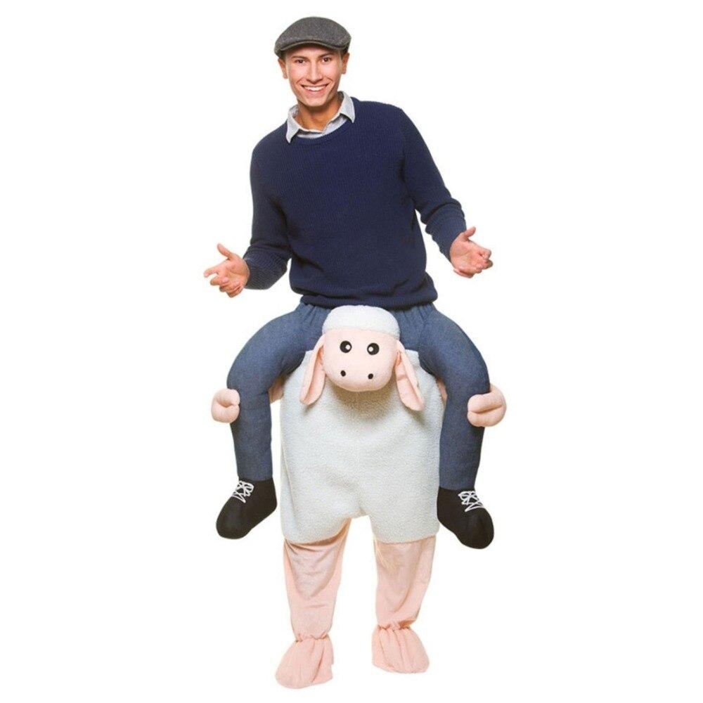 Mouton pantalon agneau fête habiller monter sur moi Cosplay Costumes porter arrière nouveauté jouet noël carnaval fête cheval équitation vêtements
