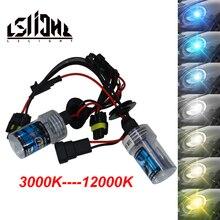 LSlight 12 В 55 Вт Ксеноновые лампочки автомобиля h4 H7 h27 h13 H1 H3 H11 9005 9004 9006 hb2 hb3 hb4 HID комплект Luces Ксенон Авто лампы фар