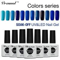 Vrenmol 12 pcs Vermelho Azul Roxo Cinza Série Gradiente Soak Off Gel UV Verniz para As Unhas Cores Brilhantes Esmaltes Gel Levou polonês