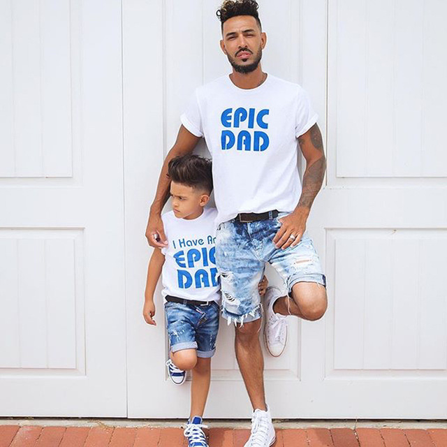 7db0d77c99e Daddy Father and Son Matching Clothes Family Matching Outfits Summer T  Shirts Hot Style Parent-child Father Son shirt tops tees