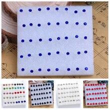 20 Pairs/pack Jewelry Rhinestone Crystal Women Piercing Stud Earrings Blue Mix Color