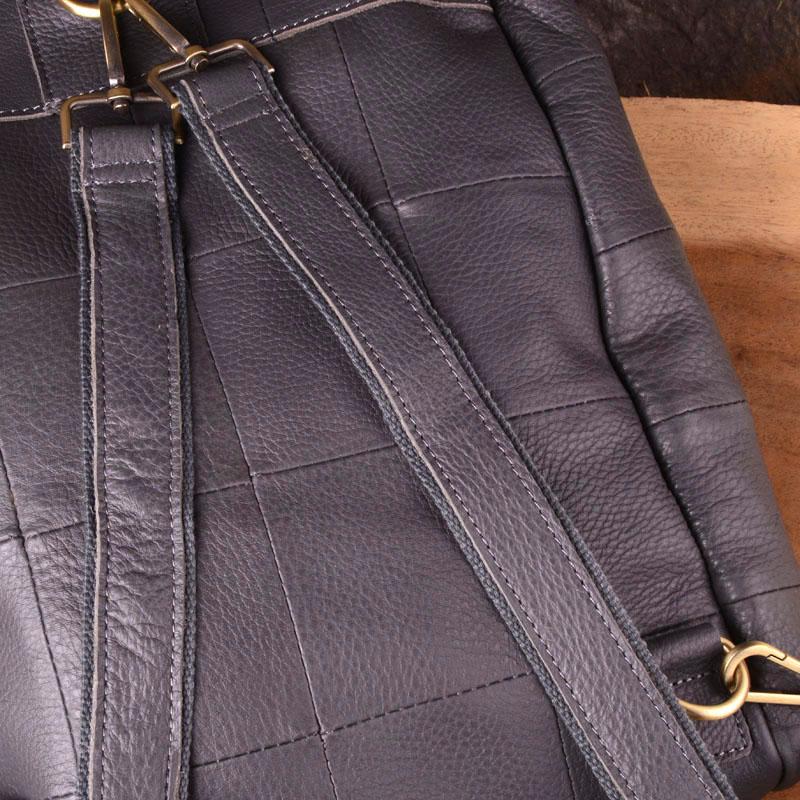 EUMOAN Brand original genuine leather backpack female travel backpack large patchwork bucket bag cowhide leather shoulder bag in Backpacks from Luggage Bags