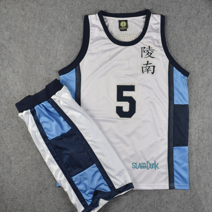 Anime Slam Dunk Cosplay Costume Ryonan School No.5 Ikegami Basketball Jersey Tops+shorts Full Set Suits Team Uniform Size M-xxl