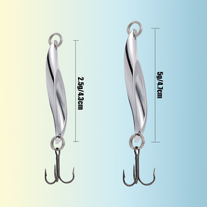 Image 3 - SUNMILE Fishing Trout Spinning Spoon Lure ,2.5g/5g VMC Hook Ultralight Metal Lures Pesca Artificial Hard Bait For Bass Pike