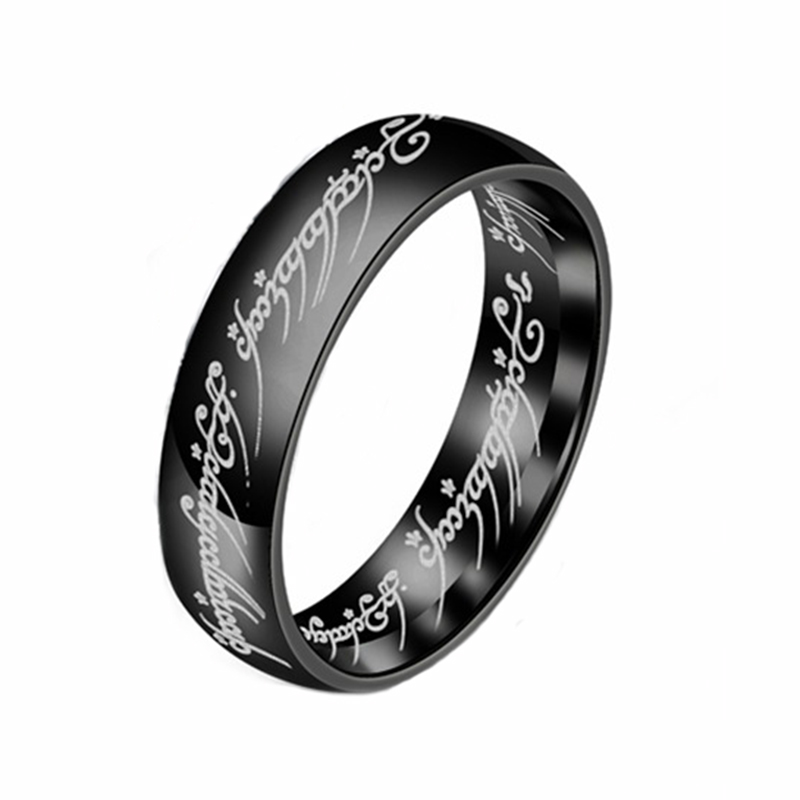 ELSEMODE, новинка, кольцо из нержавеющей стали, мощное, Властелин одного, кольцо для влюбленных женщин и мужчин, модное ювелирное изделие,, Прямая поставка - Цвет основного камня: Black