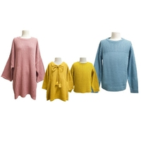 Parent Sweater Family Outfit 2018 Spring and Autumn Sweater Candy Colored Photo Mother daughter Mother child Outfit Version