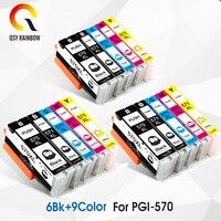 15x Kartuşları Değiştirme Canon PGI570 CLI571 PGI 570 CLI 571 XL PGI-570XL PGI570XL Mürekkep Kartuşu için MG7750 7751 6850