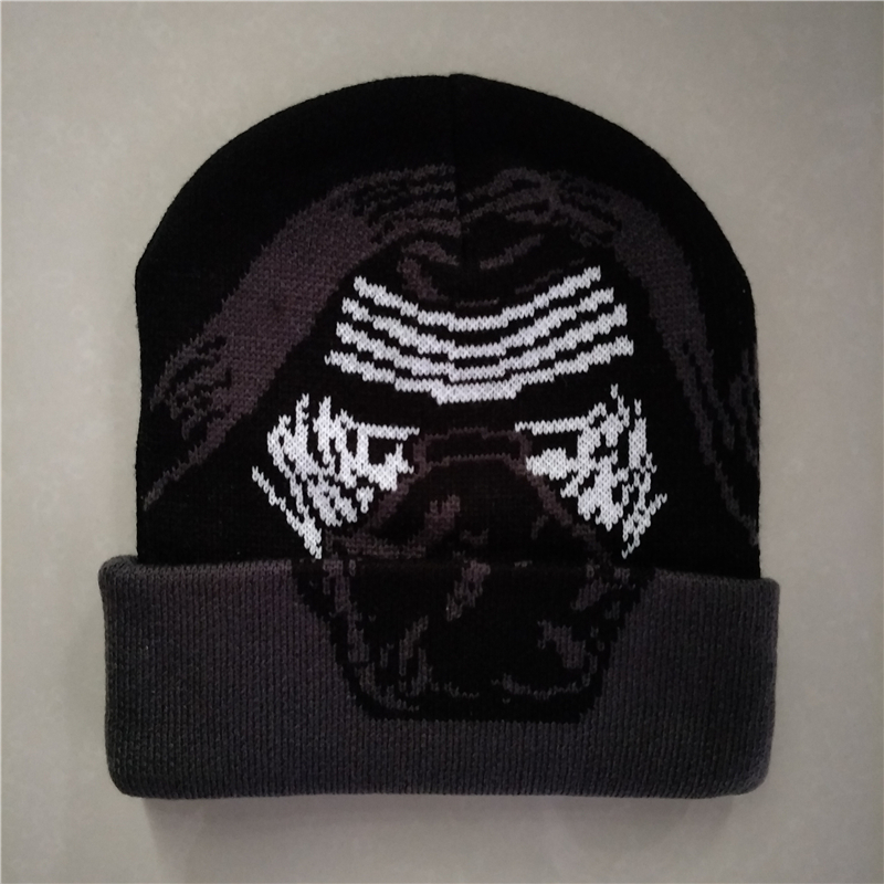 Superhero Dead p Red Mask Avengers kylo Ren Halloween Cosplay Justice Hero Plush warm winter Knitting Cotton Beanies hat caps