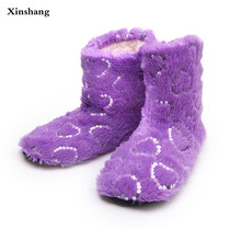 купить New Winter Warm Women Shoes Soft Bottom Indoor Home Shoes Warm Plush Indoor  For Women Floors Shoes House Fuzzy Slippers дешево