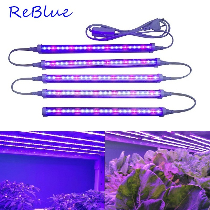 ReBlue Led Grow Light Fitolampy Phyto-Lamp 12W 24W Plant Light Lamp For Plants Full Spectrum Plant Grow Lamp For Flower Aquarium
