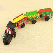 Tin toy train chain wind-up vintage toy train Nostalgic classic toys